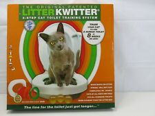 New ListingLitter Kwitter 3 Step Cat Training System Teach Kitty to Use Toilet w/Dvd Nib