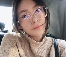 Transparent Vintage Big Plastic Frame Glasses Optical Women Clear Eyeglasses