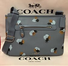 NEW Coach Taylor Cornflower Floral Printed Coated Canvas Crossbody Bag #37586