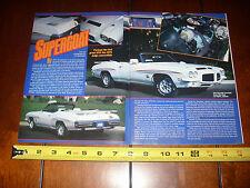 1971 PONTIAC GTO JUDGE CONVERTIBLE - ORIGINAL 1999 ARTICLE