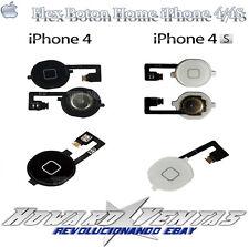 Boton Home Cable Flex Para iphone 4 4S Blanco Negro Cambiar Botón Menu Inicio