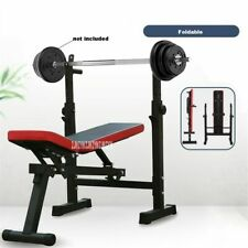 Bench Press Rack Weightlifting Bed Folding Barbell Lifting Training Bench
