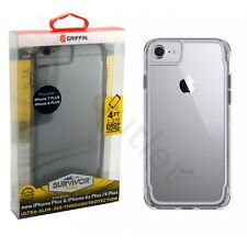 Griffin Sobreviviente TRANSPARENTE CARCASA FUNDA PARA IPHONE 7 Plus / 6 6s Gris