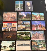Lot of 14 Original Vintage Postcards - Texas - Dallas, The Alamo, Denton+