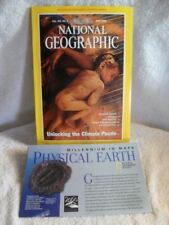 NATIONAL GEOGRAPHIC MAGAZINE MAY 1998 W/ MAP Physical World Climate Wolves