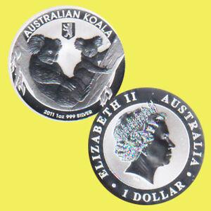 "Australien 1 $ Silbermünze Koala mit Privy ""Berliner Bär"" 2011 1Oz Silber"