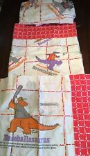 Vintage Cliff Galbraith Sports Dinosaurs Twin Sheet Set 4 Pieces