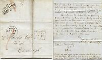 SCOTLAND 1841 TOO LATE GLASGOW PAID + EDINBURGH 2 TYPES...BANNATYNE to FORBES