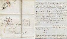 SCOTLAND 1841 TOO LATE GLASGOW PAID + EDINBURGH 2 TYPES...BANNATYNE to FORBES