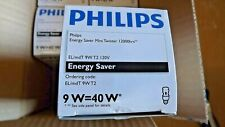 lot of 6  pack Philips 9W  Warm  Fluorescent Bulb 41398-8 standard base