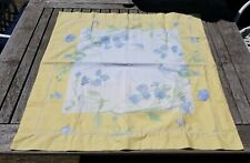 YVES DELORME ~ PARIS ~ PAIR YELLOW FLORAL PILLOWCASES  SHAM  100% COTTON