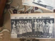 B1-9 ephemera 1960s picture miss ramsgate finalists 15 girls