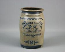 Antique Stoneware Jar/Crock, Hamilton & Jones, Greensboro, PA, 2-Gallon, Cobalt