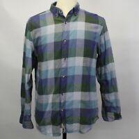 Banana Republic Camden Fit Luxe Flannel Plaid Button Long Sleeve Shirt Sz M EUC