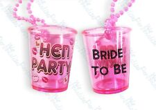 BRIDE TO BE HEN NIGHT PARTY DO SHOT GLASS GLASSES PINK NECKLACE GIRLS NIGHT OUT