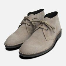 Stone Suede Mens Designer Italian Desert Boots