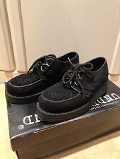 Original Underground Wulfrun Creepers Suede Shoe Black Size uk 4