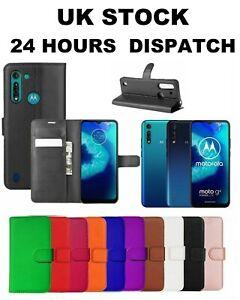 Leather Wallet Book Flip Case For Motorola Moto G8 Power Lite E5 G6 G8 G7 Play