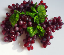 Wine Red Grapes Artificial Plastic Fruits Plants(set of 4 Bunches)