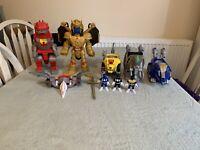 Imaginext Power Rangers Bundle Inc Goldar, T Rex, Pteradactyl, Mastodon, & More