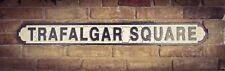 Vintage Wood LONDON street road sign,  TRAFALGAR SQUARE