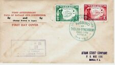 1943 WW2 F.D.C. Japanese Occupation Stamps 2c & 5c Philippines Fall of Bataan &