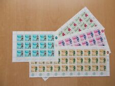Israel - SG348 / 351 1966 Stamp Day MNH complete sheets.