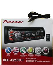 Pioneer DEH-X2600UI CD/USB/MP3 In Dash Receiver w/ FREE AUX Cord 884938218658