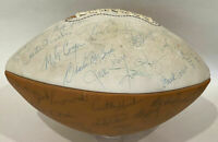 1980 NEBRASKA CORNHUSKERS TEAM SIGNED FOOTBALL COACH TOM OSBORNE & FRANK SOLICH