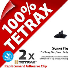 2 x Tetrax Replacement Adhesive Clip Xvent Black (For use with Holder)
