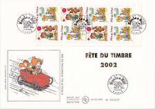 Enveloppe grand format 1er jour 2002 Fête du timbre Boule & Bill Carnet