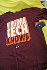 Men's Clothing * Virginia Tech Knows *Tee Shirt  NIKE Collegiate Size Small NWT