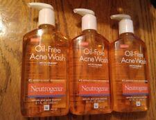 Neutrogena Oil-Free Acne Wash - 9.1 oz Salicylic acid (3 pack) EXP 2/2019 FREE S