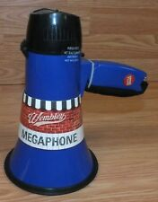 Genuine Wembley Coach's Blue Megaphone Bullhorn With Siren & Bottle Opener