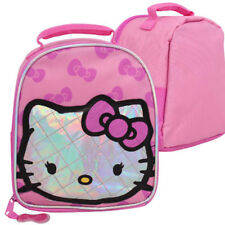 HELLO KITTY SCHOOL INSULATED TOTE SOFT DOME LUNCH BAG PINK GIRLS NEW