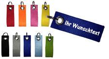Filz Schlüsselanhänger, Wunschtext, Name, beidseitiger Aufdruck, Werbeartikel