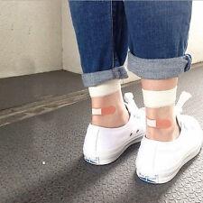 Fashion Glass Silk Stretch Band Aid Transparent Crystal Socks Women Silk Socks