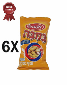 6X BAMBA Osem Original Taste Peanut Snack Kosher Israel 80 gram for pack במבה