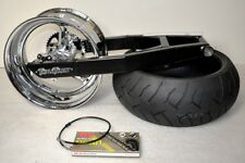 08-18 Hayabusa ABS 240 Wide Tire Swingarm Chrome Stocker Wheel Kit Complete NEW