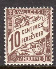 Andorra, French Administration Scott #J18 VF MNH 1941 10 C Postage Due