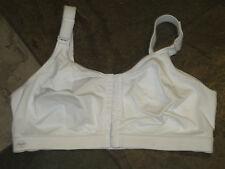 517 Anita White Front Close Wire Free Sports Bra Size 42D #5523 EUC $62