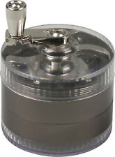 Grinder Metall/Kunststoff - Ø 6cm - Höhe 47mm - 4tlg. - Kurbel - Sieb - Spachtel