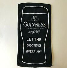 """Guinness Draught Stout Bar Towel 2003 """"Let The Good Times Overflow"""" beer"""