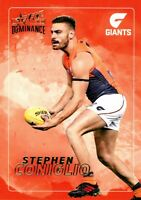 ✺New✺ 2020 GWS GIANTS AFL Card STEPHEN CONIGLIO Dominance