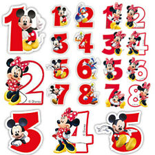 Candles Minnie & Mickey Mouse Happy Birthday Cake Numbers Boy Girl Party