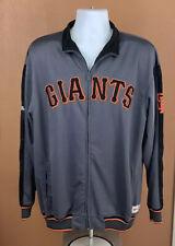 MLB Baseball Mens San Francisco Giants Full Zip Gray Orange Jacket Size L Large