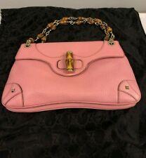 Gucci Pink Bamboo Chain Shoulder Bag 137391