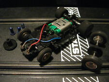 Strombecker Chassis with extra axle and wide tires  1/32 Scale Slot cars