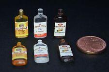 Whisky Flaschen Miniatur 1:12  Zubehör Puppenstube Puppenhaus Diorama 1:18