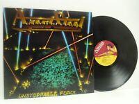 AGENT STEEL unstoppable force (1st uk press) LP EX/EX-, MFN 66, vinyl, thrash,